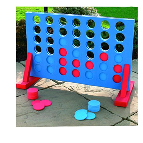 Giant Four in A Row Garden Outdoor Game Childrens Kids Adult Family Fun Toy...