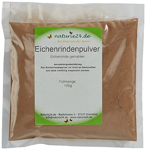 Naturix24 Eichenrindenpulver, Eichenrinde gemahlen, 8er Pack (8 x 100 g)
