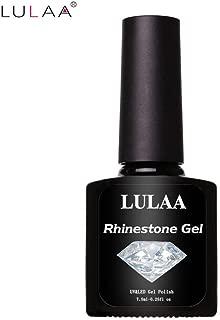 lotus.flower DIY Art Nail Polish Glue Rhinestone Adhesives Super Sticky Tools UV Gel (7.5ML)