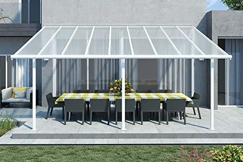 Hochwertige ALU Terrassenüberdachung/Veranda - 550 x 300 (BxT) / Überdachung/Pergola Palram Sierra Weiß