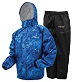 FROGG TOGGS Men's Standard Classic All-Sport Waterproof Breathable Rain Suit, Realtree Fishing Dark Blue, Large