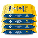 WipesPlus Disinfecting Wipes Bulk (240 Total Wipes) - 4 Packs of Sanitizing Wipes - 60 Disinfectant Wipes per Pack - Made in The USA