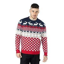 Noroze – Maglione natalizio da uomo, lavorato a maglia