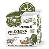 Wild Zora Meat and Veggie Bars - Mediterranean Lamb - Healthy Jerky Paleo Snacks with Organic Veggies - AIP Snacks, Gluten Free, Soy Free, High Protein, No Added Sugar - (10-Pack)