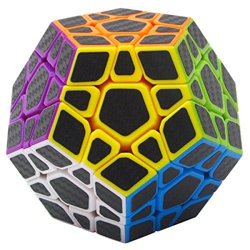 Coolzon Megaminx Puzzle Cube Cubo Magico con Pegatina de Fibra de Carbono Velocidad