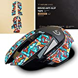 Hotline Games Colorful Mouse Anti-Slip Grip Tape for Logitech G502 Hero / G502 Lightspeed Wireless Gaming Mouse, Non-Fading,Sweat Resistant,Cut to Fit,Easy to Use,Professional Mice Upgrade Kit