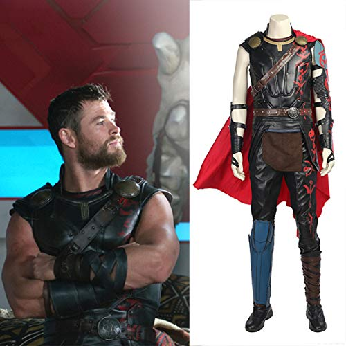 Rubyonly Traje de Carnaval Traje Cosplay Odinson película Thor Thor Ragnarok Cosplay Hombres Thor Thor 3 Equipo de Halloween Sin Zapato para Adultos,XL