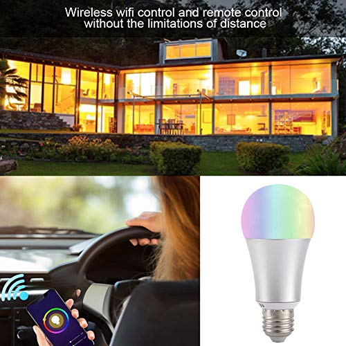 Bombilla Wi-Fi, Bombilla Wi-Fi controlada por teléfono inteligente para Illuminate(E27)