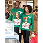 "Tipsy Elves Men's Ugly Christmas Sweater - Happy Birthday Jesus Sweater Green 16 ""****LAST CHANCE! Order Today and Save with our Lowest Priced Deals of the Holiday Season. While supplies last!****"" Tipsy Elves' ugly christmas sweaters are perfect for gifting to all of your friends but most importantly, yourself! Whether you're inside, outside, together or apart, or even stuck in a virtual meeting, whenever you rock your Tipsy Elves gear no one will ever doubt the ferocity of your festive fury. Tipsy Elves' hilariously ugly sweaters are a perfect gift this holiday season, why wait to share the love when you and your friends and family can make everyone laugh with one of our funny sweaters. Whether you're celebrating and matching in person or just catching up online, Tipsy Elves' hilarious holiday clothing will keep everyone looking cozy and warm!"