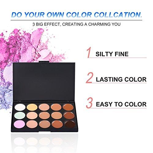 15 couleurs maquillage visage contour correcteur camouflage visage crème palette