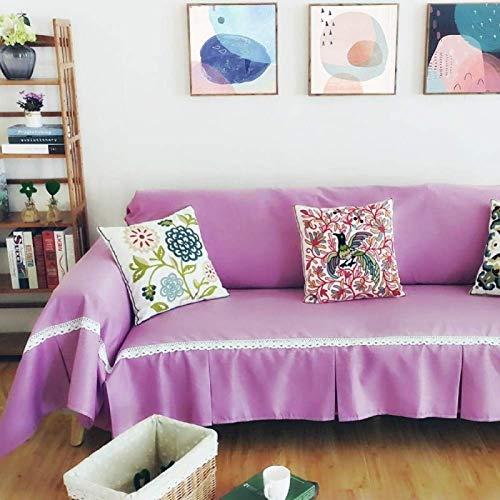 Zairmb Algodón Funda de sillón Color Puro Conciso para el Dormitorio de la Sala de Estar Funda Sofa Protector de Sofá Funda para sofá Suave Universal Antiarrugas-190x200cm A