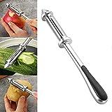 Pelador de verduras multifuncional, pelador de frutas, pelador de acero inoxidable 3 en 1, herramienta de cocina, pelador de rallador de patata y zanahoria, para hacer deliciosas ensaladas(1 pieza)