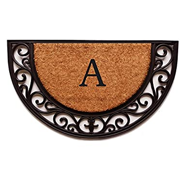 Home & More 100141830A Plantation Arch Monogram Doormat 18  X 30  (Letter A),,