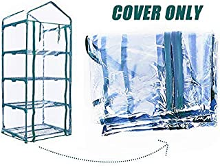 Worth Transparent 4 Tier PVC Mini Greenhouse Replacement Cover Waterproof Clear Tarp fit for 27 in. L x 19 in. W x 63 in. H Green House