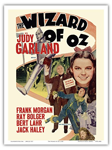 The Wizard of Oz - with Judy Garland - Vintage Film Movie Poster c.1949 - Master Art Print - 9in x 12in