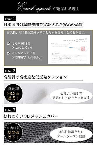 【整体師推薦】Enichagent足枕フットレスト足置き低反発クッション日本語説明書付無地ブラック