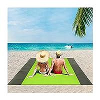 AHOMG ピクニックマットテントマットクッション、サンドフリービーチブランケット、サンドプルーフピクニックブランケットビーチマット、大人4~7名用、4ステーク付き防水ポケットピクニックブランケット、屋外ブランケット、旅行キャンプハイキング用 (C,2PCS)