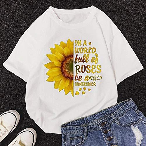 T-Shirt Femme Tshirt New Summer O-Neck Manches Courtes Mignon Cartoon T-Shirt Femmes L 11462