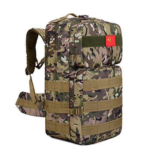 HHUI-HUWAIBAO, 50L Mochila táctica Mochila Militar Molle Mochilas Senderismo Bolsa al Aire Libre Mohila Ejército Deportes Bolsas Senderismo (Color : CP Camouflage)