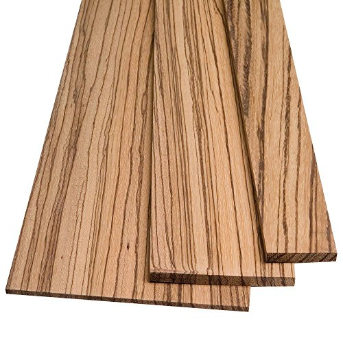 Zebrawood by the Piece, 1/4