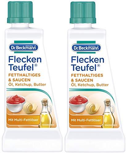 2x Dr. Beckmann Fleckenteufel Fetthaltiges & Saucen 50 ml - Mit 3-Fach-Fettlöser
