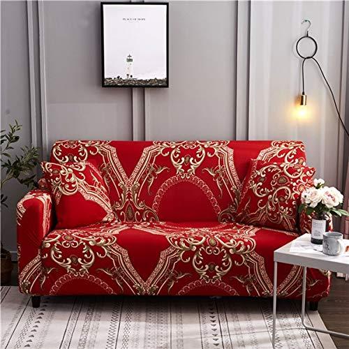 PPMP Funda de sofá elástica para Sala de Estar Funda de sofá elástica Funda de sofá en Forma de sección Funda de sillón Funda de sofá A10 3 plazas