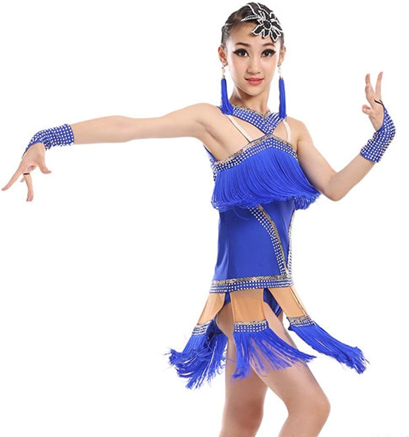 YONGMEI Fringed Latin Dance Competition Dress Performance Practice Clothing Dance costume