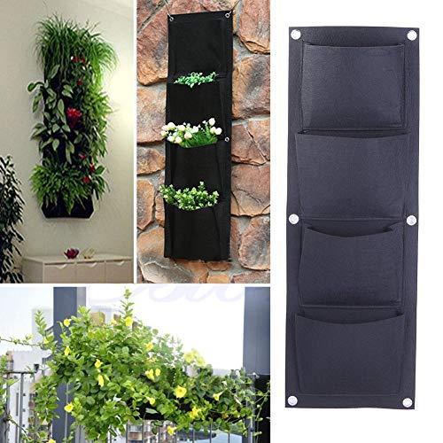OneMoreT Garten-Gewächshülle, 4 Taschen, zum Aufhängen, für Innen- und Außenbereich, Pflanztasche für Pflanzen