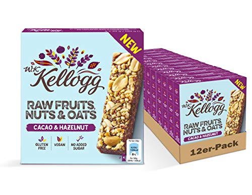 Kellogg's Bar Cacao & Hazelnut | Karton mit 12 Multipacks mit je 4 Riegeln (4 x 30g) | 1440g