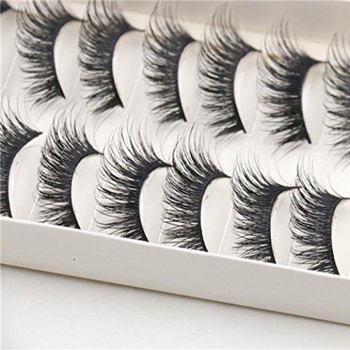 10 paires de faux cils naturels et longues régulières Eye Lashes