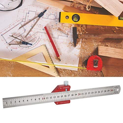 Regla de trazado de alta precisión Regla de medición para trabajar la madera para taladradoras para dibujar(CX300-2)