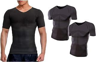 【amazon限定ブランド】 モアプレッシャー(More Pressure) 加圧シャツ 加圧強化タイプ メンズ用 (Vネック/半袖)