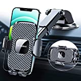 [4th-Gen] TORRAS Cell Phone Holder for Car [Big Thick Phone Friendly], Car Phone Holder Mount Dashboard Windshield Vent Stand Compatible for iPhone 12 11 Pro Max X, Samsung S20+Ultra/Note 20 10 Plus