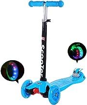 IMMEK Patinete de 3 Ruedas Scooter con Led Luces Manillar Altura Ajustable 73cm-83cm,Perfecto para los Niños Adjustable Handles & Lightweight Construction