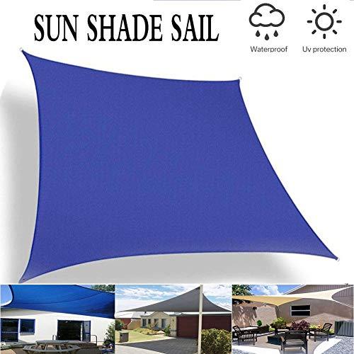 PA Toldo Vela de Sombra, Jardín Patio Piscina Camping Picnic Toldo de Protección Solar Resistente y Transpirable Toldo Parasol (Color : Blue, Size : 3 * 4m)