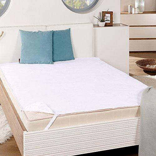 PROHEIM wasserdichte & Atmungsaktive Matratzen-Auflage Molton Matratzenschoner für Betten Matratzenschutz aus 100% Baumwolle Wasserundurchlässige Betteinlage, Größe:80 x 200 cm