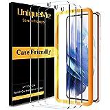 UniqueMe [3 Pack] Vetro Temperato Compatibile con Samsung Galaxy S21 Plus / S21+ 6.7 Pollici Pellicola Protettiva, [Bubble Free] [9H Hardness] Anti-Scratch [Protezione superiore]