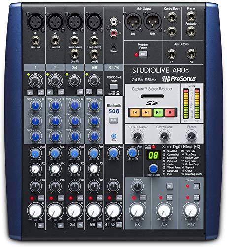 PreSonus StudioLive AR8c 8-Kanal USB-C Hybrid Digital/Analog Performance Mixer, ohne Strom