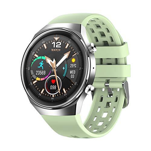 Reloj inteligente para hombre, con monitor de actividad deportiva, frecuencia cardíaca, ECG, música para mujer, para iOS y Android (color verde, tamaño: Addagreenstrap)