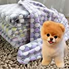 CHDHALTD Soft Dog Blanket,Soft Flannel Kitten Blanket, Puppy Blanket for Pet Cushion, Breathable Washable Dog Cat Bed Mat, Warm Cozy Pet Sleeping Cushion Cover for Dogs Puppies Cats