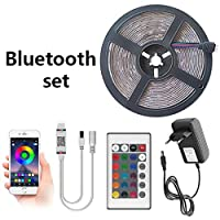 プレミアム ベッドルーム用LEDストリップライト、LEDストリップの15メートルテープLEDダイオードリボンフレキシブルLEDストリップライト、ルーム、ベッドルーム、テレビ、キッチン、デスク プロフェッショナル&アップグレード済み (Color : Bluetooth Waterproof, Size : 5M 5050)
