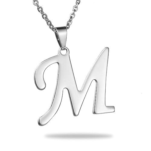 948a251ac3d24 M Necklace: Amazon.co.uk