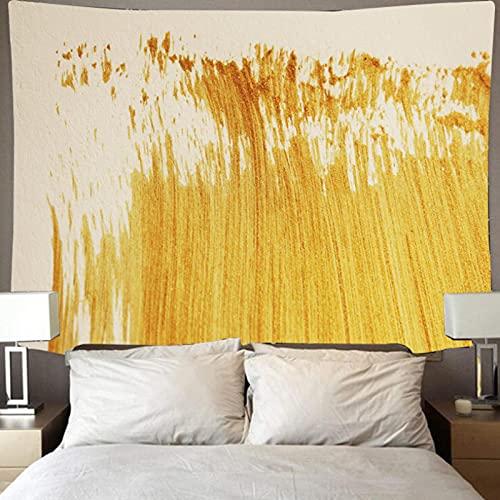 Tapiz De Pared Paño Colgante Decoración De Pared Tapices Dormitorio Sala De Estar Dormitorio Cortina Toalla De Playa Manta 79X59 Pulgadas Pintura De Color Dorado