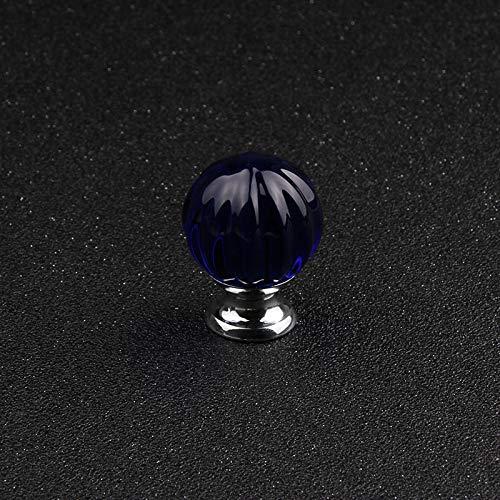 Bureze 30mm 5 stks Diep Blauw Kristal Glas Pompoen Bal Handvat Meubilair Accessoires Ladekast Deurknop Gratis Verzending