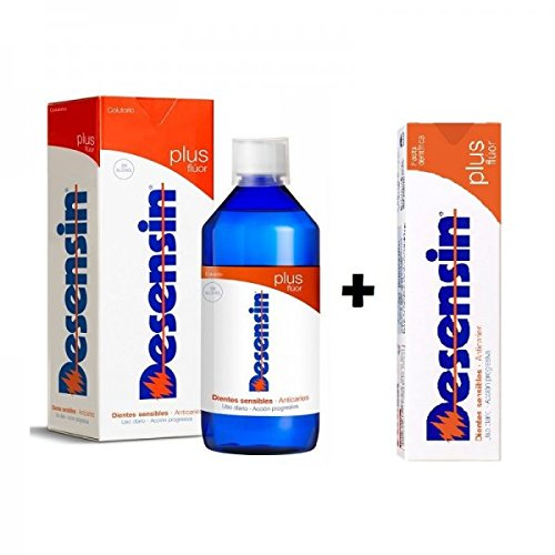 DESENSIN PLUS FLUOR (dientes sensibles) Incluye pasta de 125 ml. + colutorio de 500 ml.