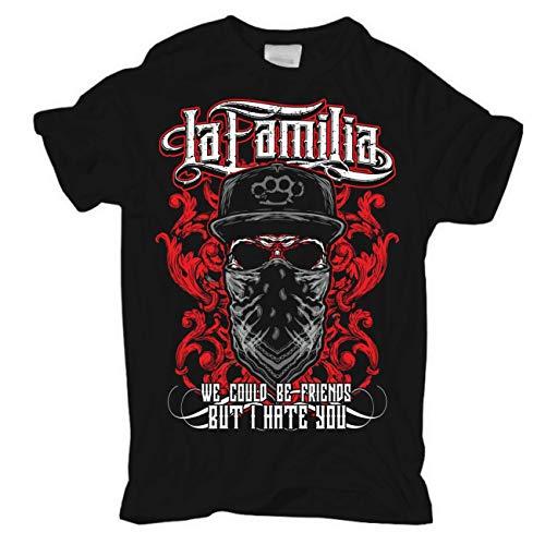 Männer und Herren T-Shirt LA Familia we Could be Friends (mit Rückendruck) Größe S - 8XL