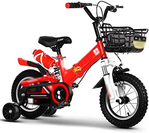 "Foldable Children s Bicycle Girl's Boy's Kids Bike Bicycle Children Folding Bike - 12"" 14"" 16"" - with Training Wheel Water Bottle and Brake-VS_16''"