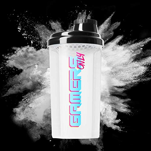 GAMERS ONLY Shaker XL BPA frei, Schwarz / Transparent