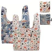 買い物バッグ エコバッグ 折りたたみ 水洗い可& 再利用可能 手提...