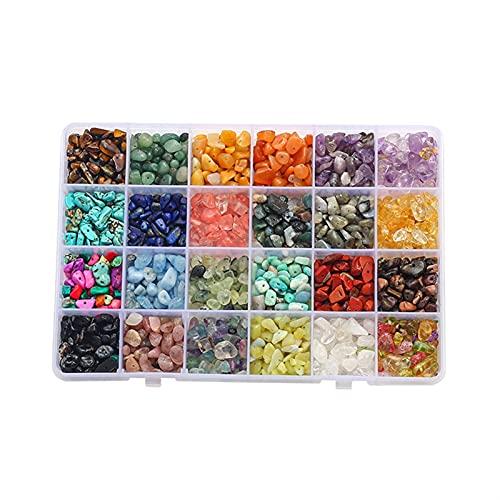 Cuentas de arcilla para hacer joyas, BRICOLAJE Pendientes Kit Natural Stone Chips Beads Charms Jump Anillos Pendiente Gancho para la fabricación de joyas BRICOLAJE Conjunto de pulsera ( Color : 03 )